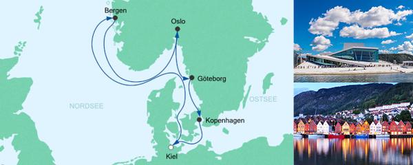 AIDA Traumstart um 12 Angebot Skandinavien ab Kiel