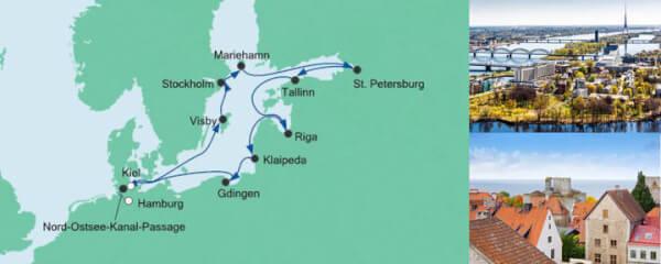 AIDA Pauschal Angebot Große Ostsee-Reise 2