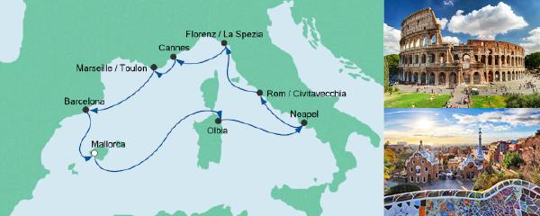 AIDA Verlockung der Woche Angebot Mediterrane Highlights 2