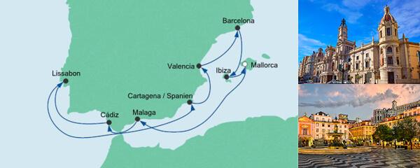 AIDA Pauschal Angebot Spanien & Portugal