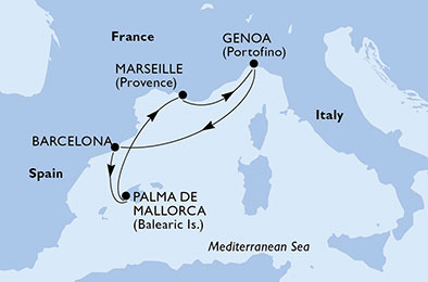 4 Tage Mittelmeer