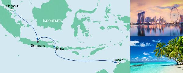 Mein Schiff Special EURESAreisen Von Singapur nach Darwin