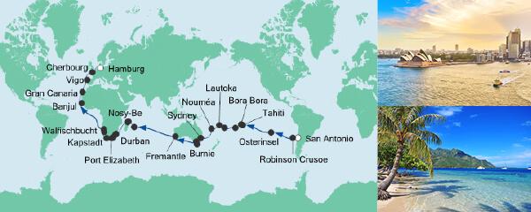 Von San Antonio nach Hamburg
