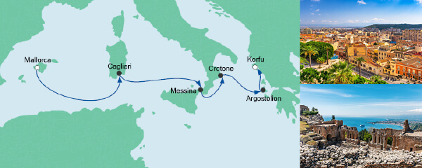 AIDA Seetours Angebot Von Mallorca nach Korfu