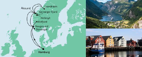 Routenverlauf Norwegens Fjorde 2 am 07.07.2021