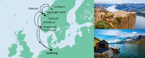 Routenverlauf Norwegens Fjorde 2 am 17.08.2022