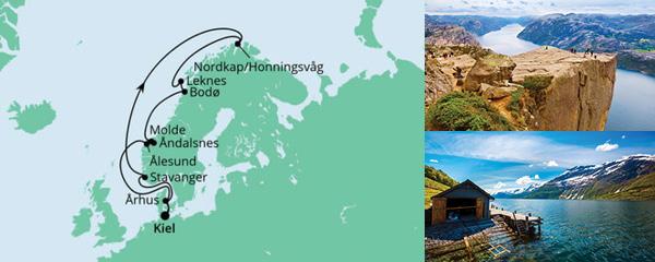 Routenverlauf Norwegen mit Lofoten & Nordkap 4 am 30.05.2021