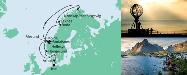 Routenverlauf Norwegen mit Lofoten & Nordkap 4 am 13.06.2021