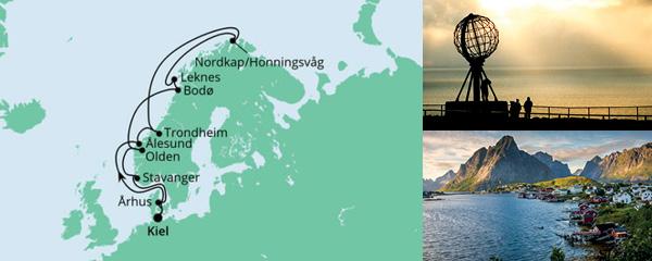 Routenverlauf Norwegen mit Lofoten & Nordkap 4 am 25.07.2021