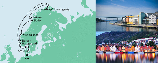 Routenverlauf Norwegen mit Lofoten & Nordkap 4 am 11.07.2021