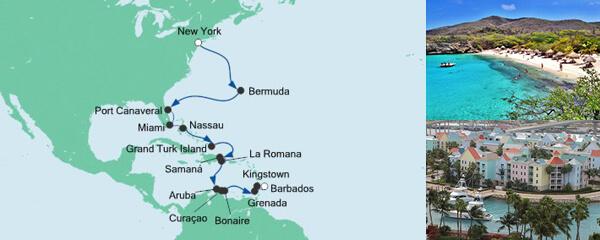 AIDA Angebotsextra Von New York nach Barbados 1