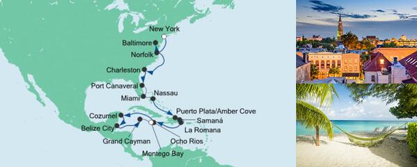 AIDA Angebotsextra Von New York nach Jamaika 1