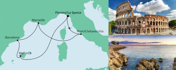 Routenverlauf Mediterrane Schätze ab La Spezia am 04.05.2020