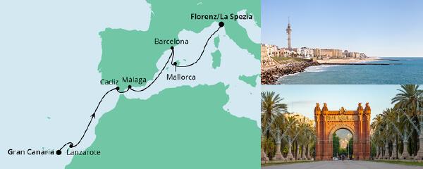 Von Gran Canaria nach La Spezia