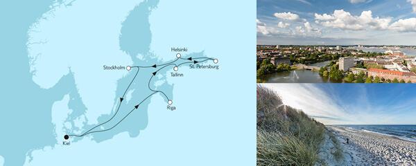 10 Tage Ostsee mit St. Petersburg & Riga