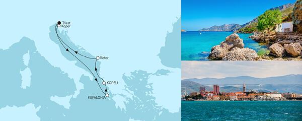 7 Tage Adria mit Korfu