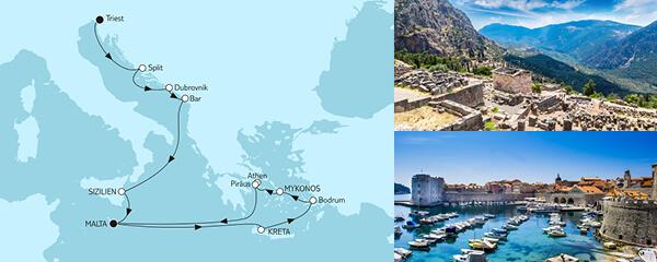 14 Tage Triest bis Malta