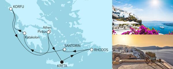 Routengrafik Große Freiheit - Östliches Mittelmeer mit Kreta II