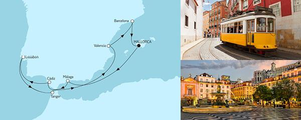 10 Tage Mittelmeer mit Málaga mit der Mein Schiff 4