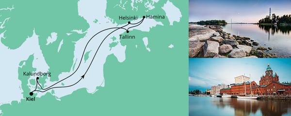 Routenverlauf Ostsee ab Kiel am 28.05.2022