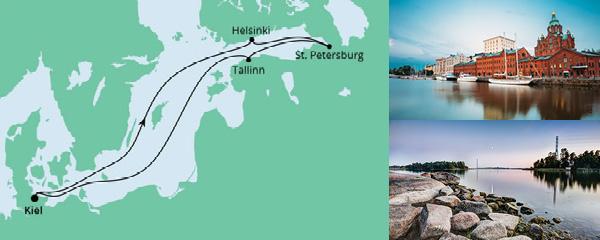 Routenverlauf Ostsee ab Kiel am 23.07.2022