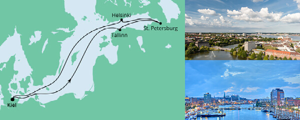Routenverlauf Ostsee ab Kiel am 03.09.2022