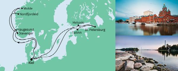 Routenverlauf Norwegen & Ostsee am 05.06.2021