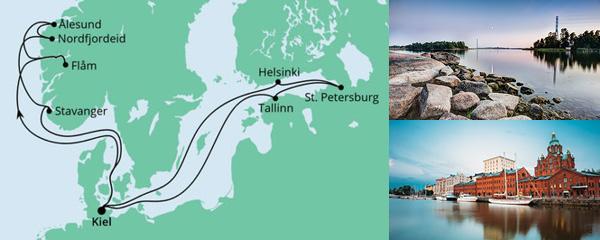 Routenverlauf Norwegen & Ostsee am 03.07.2021