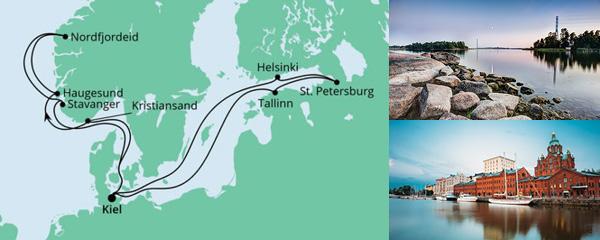 Routenverlauf Norwegen & Ostsee am 11.09.2021