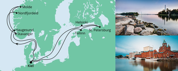 Routenverlauf Norwegen & Ostsee am 25.09.2021