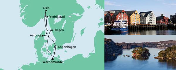 Routenverlauf Metropolen & Norwegen am 24.07.2021