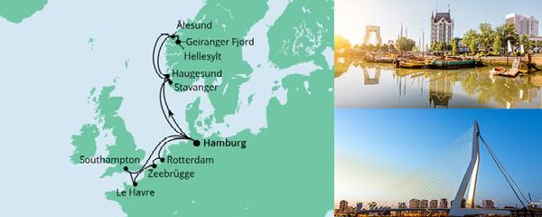 Routenverlauf Metropolen & Norwegen am 21.08.2021