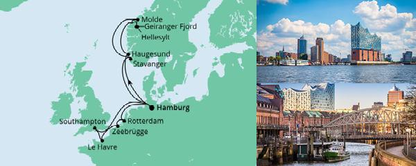 Routenverlauf Metropolen & Norwegen am 18.09.2021