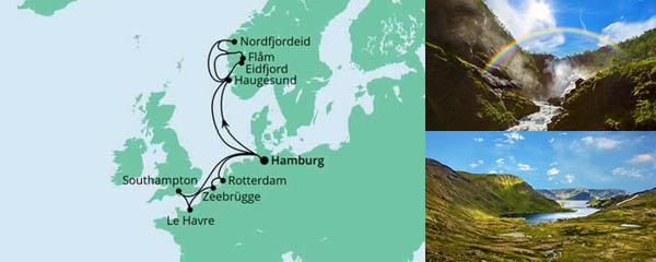 Routenverlauf Metropolen & Norwegen am 28.05.2022