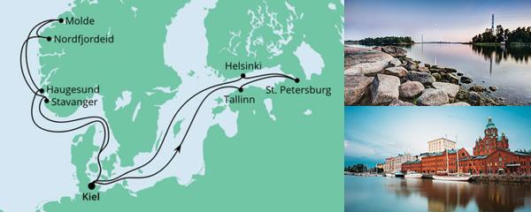 Routenverlauf Norwegen & Ostsee am 29.05.2021