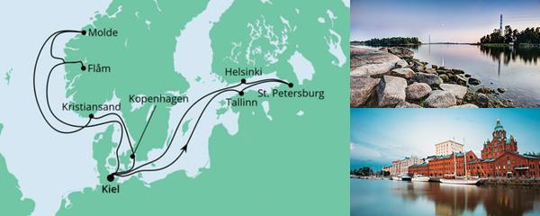 Routenverlauf Norwegen & Ostsee am 12.06.2021