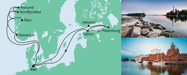 Routenverlauf Norwegen & Ostsee am 26.06.2021