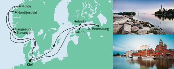 Routenverlauf Norwegen & Ostsee am 24.07.2021