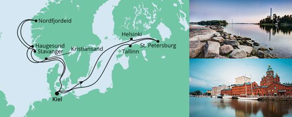 Routenverlauf Norwegen & Ostsee am 04.09.2021
