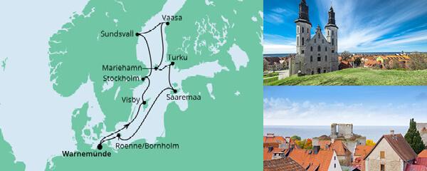 Schärengarten der Ostsee mit Hanse Sail