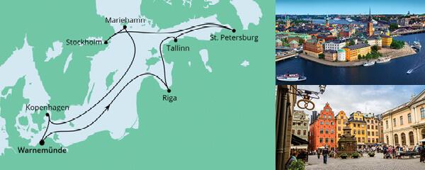 Städte der Ostsee mit Hanse Sail