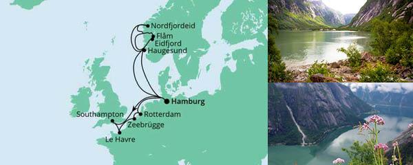 Routenverlauf Metropolen & Norwegen am 21.05.2022