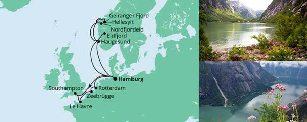 Routenverlauf Metropolen & Norwegen am 10.09.2022