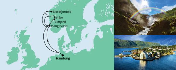 Routenverlauf Norwegen ab Hamburg am 28.05.2022