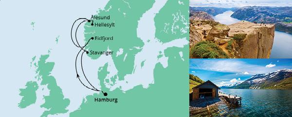 Routenverlauf Norwegen ab Hamburg am 11.06.2022