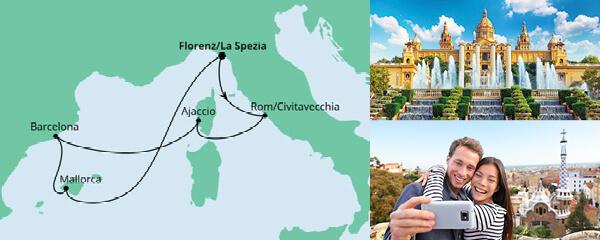 Routenverlauf Mediterrane Schätze ab La Spezia am 03.05.2021