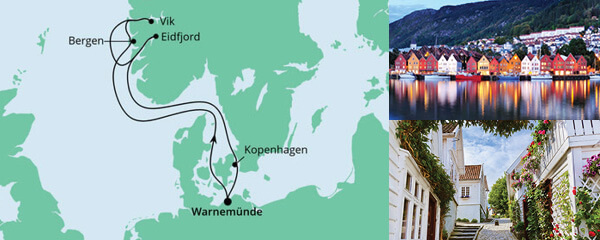 AIDA Seetours Angebot Norwegens Fjorde ab Warnemünde