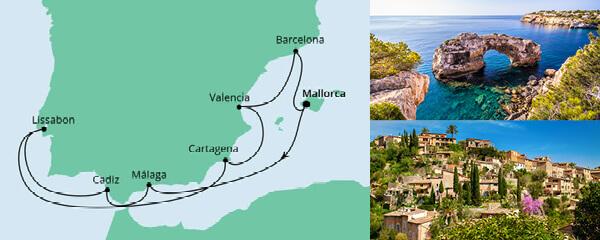 Routenverlauf Spanien & Portugal am 27.05.2021