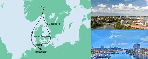 Routenverlauf Skandinavische Städte am 28.04.2021