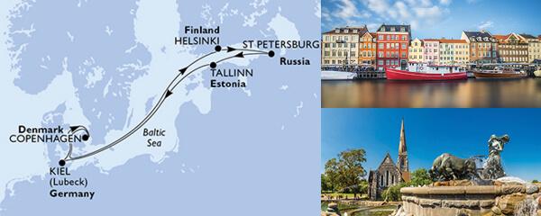 Routenverlauf MSC Ostsee mit MSC Virtuosa